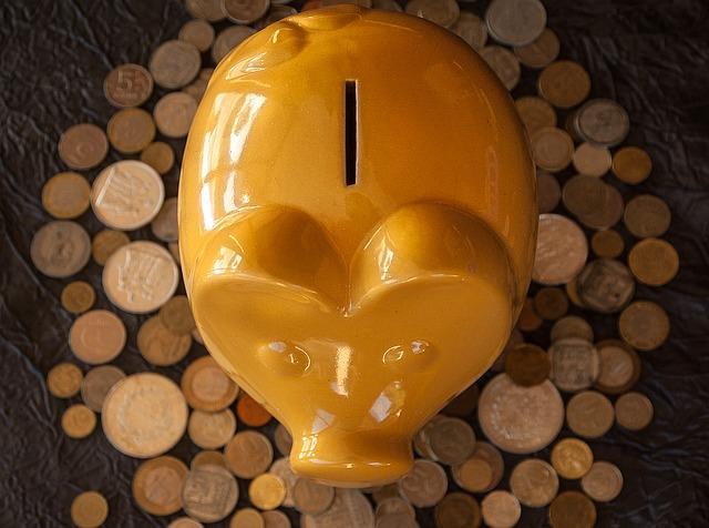 zlaté prasátko a mince