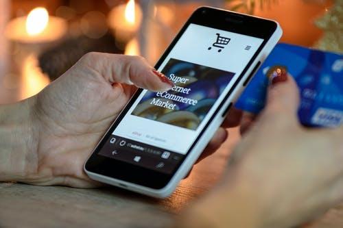 prodejní web v mobilu